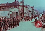Image of German troops marching to surrender to Western Allies Pilsen Czechoslovakia, 1945, second 32 stock footage video 65675055608