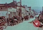 Image of German troops marching to surrender to Western Allies Pilsen Czechoslovakia, 1945, second 46 stock footage video 65675055608