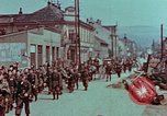 Image of German troops marching to surrender to Western Allies Pilsen Czechoslovakia, 1945, second 61 stock footage video 65675055608