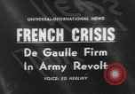 Image of insurrection Algeria, 1961, second 1 stock footage video 65675055694