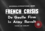Image of insurrection Algeria, 1961, second 2 stock footage video 65675055694