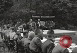Image of United States and Russian officers Protivin Czechoslovakia, 1945, second 18 stock footage video 65675060046