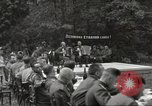 Image of United States and Russian officers Protivin Czechoslovakia, 1945, second 19 stock footage video 65675060046