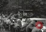 Image of United States and Russian officers Protivin Czechoslovakia, 1945, second 20 stock footage video 65675060046