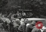 Image of United States and Russian officers Protivin Czechoslovakia, 1945, second 24 stock footage video 65675060046