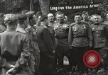 Image of United States and Russian officers Protivin Czechoslovakia, 1945, second 32 stock footage video 65675060046
