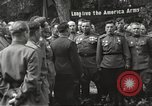 Image of United States and Russian officers Protivin Czechoslovakia, 1945, second 33 stock footage video 65675060046