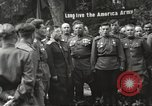 Image of United States and Russian officers Protivin Czechoslovakia, 1945, second 36 stock footage video 65675060046
