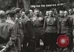 Image of United States and Russian officers Protivin Czechoslovakia, 1945, second 39 stock footage video 65675060046