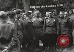 Image of United States and Russian officers Protivin Czechoslovakia, 1945, second 40 stock footage video 65675060046
