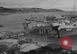 Image of U.S. Army Vehicles being loaded on LSTs before D-Day Falmouth England United Kingdom, 1944, second 7 stock footage video 65675060406