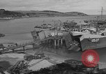 Image of U.S. Army Vehicles being loaded on LSTs before D-Day Falmouth England United Kingdom, 1944, second 14 stock footage video 65675060406