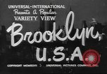 Image of City scenes including bridges, buildings, streets and traffic Brooklyn New York USA, 1947, second 2 stock footage video 65675060412
