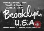 Image of City scenes including bridges, buildings, streets and traffic Brooklyn New York USA, 1947, second 3 stock footage video 65675060412