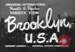 Image of City scenes including bridges, buildings, streets and traffic Brooklyn New York USA, 1947, second 4 stock footage video 65675060412