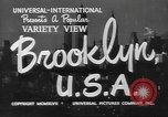 Image of City scenes including bridges, buildings, streets and traffic Brooklyn New York USA, 1947, second 5 stock footage video 65675060412