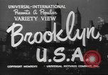 Image of City scenes including bridges, buildings, streets and traffic Brooklyn New York USA, 1947, second 6 stock footage video 65675060412
