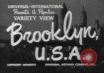 Image of City scenes including bridges, buildings, streets and traffic Brooklyn New York USA, 1947, second 7 stock footage video 65675060412