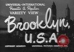 Image of City scenes including bridges, buildings, streets and traffic Brooklyn New York USA, 1947, second 8 stock footage video 65675060412