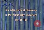 Image of Chinese people Tali China, 1941, second 2 stock footage video 65675060840