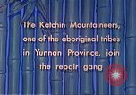 Image of Katchin mountaineers Paoshan China, 1941, second 33 stock footage video 65675060843