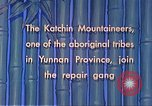 Image of Katchin mountaineers Paoshan China, 1941, second 36 stock footage video 65675060843