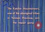 Image of Katchin mountaineers Paoshan China, 1941, second 38 stock footage video 65675060843