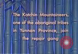 Image of Katchin mountaineers Paoshan China, 1941, second 39 stock footage video 65675060843