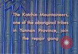 Image of Katchin mountaineers Paoshan China, 1941, second 40 stock footage video 65675060843