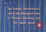Image of Katchin mountaineers Paoshan China, 1941, second 41 stock footage video 65675060843