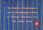 Image of Katchin mountaineers Paoshan China, 1941, second 45 stock footage video 65675060843