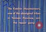 Image of Katchin mountaineers Paoshan China, 1941, second 46 stock footage video 65675060843