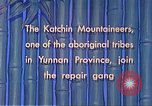 Image of Katchin mountaineers Paoshan China, 1941, second 48 stock footage video 65675060843