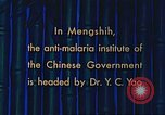Image of Doctor Yao and Rockefeller Institute malaria control in China during W Mengshih China, 1941, second 45 stock footage video 65675060847