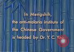 Image of Doctor Yao and Rockefeller Institute malaria control in China during W Mengshih China, 1941, second 48 stock footage video 65675060847