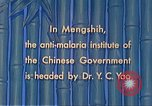 Image of Doctor Yao and Rockefeller Institute malaria control in China during W Mengshih China, 1941, second 49 stock footage video 65675060847