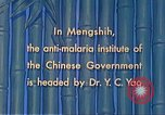 Image of Doctor Yao and Rockefeller Institute malaria control in China during W Mengshih China, 1941, second 51 stock footage video 65675060847