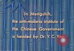 Image of Doctor Yao and Rockefeller Institute malaria control in China during W Mengshih China, 1941, second 53 stock footage video 65675060847