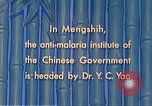 Image of Doctor Yao and Rockefeller Institute malaria control in China during W Mengshih China, 1941, second 54 stock footage video 65675060847