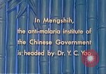 Image of Doctor Yao and Rockefeller Institute malaria control in China during W Mengshih China, 1941, second 56 stock footage video 65675060847