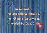 Image of Doctor Yao and Rockefeller Institute malaria control in China during W Mengshih China, 1941, second 57 stock footage video 65675060847