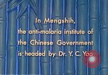 Image of Doctor Yao and Rockefeller Institute malaria control in China during W Mengshih China, 1941, second 60 stock footage video 65675060847