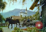 Image of Farmers using animals for transportation Europe, 1950, second 40 stock footage video 65675060860