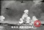Image of Japanese bombers attack Pearl Harbor Honolulu Hawaii USA, 1941, second 7 stock footage video 65675060940