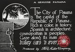 Image of streets of city Panama, 1919, second 25 stock footage video 65675060955