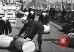 Image of sailors rolling barrels New York United States USA, 1922, second 5 stock footage video 65675060983