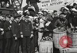 Image of sailors rolling barrels New York United States USA, 1922, second 51 stock footage video 65675060983