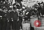 Image of sailors rolling barrels New York United States USA, 1922, second 52 stock footage video 65675060983