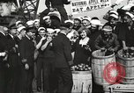 Image of sailors rolling barrels New York United States USA, 1922, second 58 stock footage video 65675060983