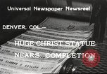 Image of huge statue of Christ Denver Colorado USA, 1934, second 1 stock footage video 65675061010